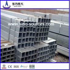BS1387/ASTM A53 galvanized square steel pipe