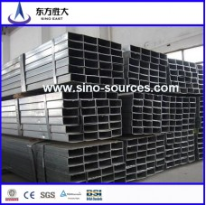 factory price black rectangular steel pipe