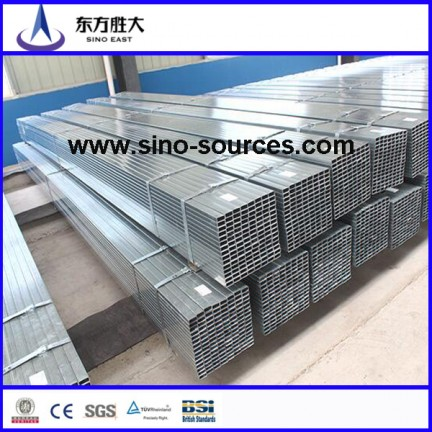 Hollow Section Galvanized Rectangular Steel Pipe