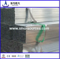 Q345 130*50 hot dip GI rectangular steel pipes factory